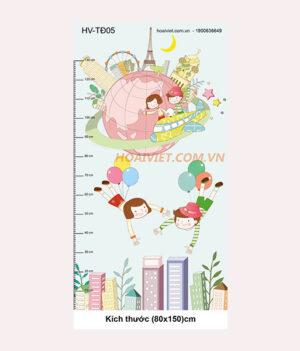 tranh đo chiều cao trẻ em HV-TĐ05