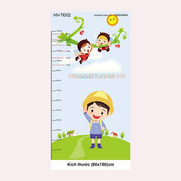 tranh đo chiều cao trẻ em