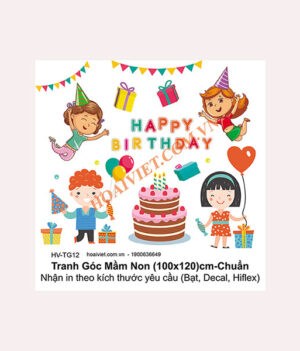 tranh happy birthday