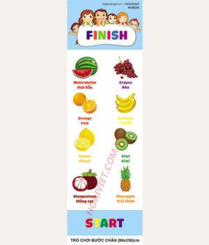 trò chơi bước chân với các loại hoa quả