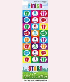 trò chơi bước chân với con số và bàn chân